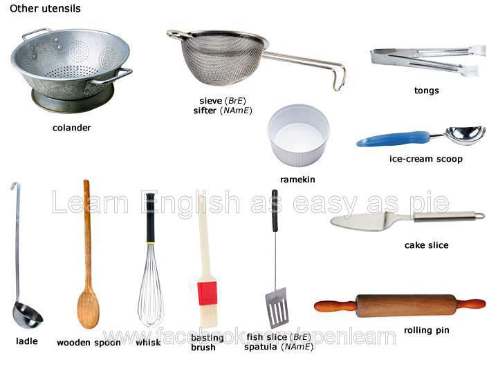 Different Kinds Of Kitchen Utensils And Their Uses