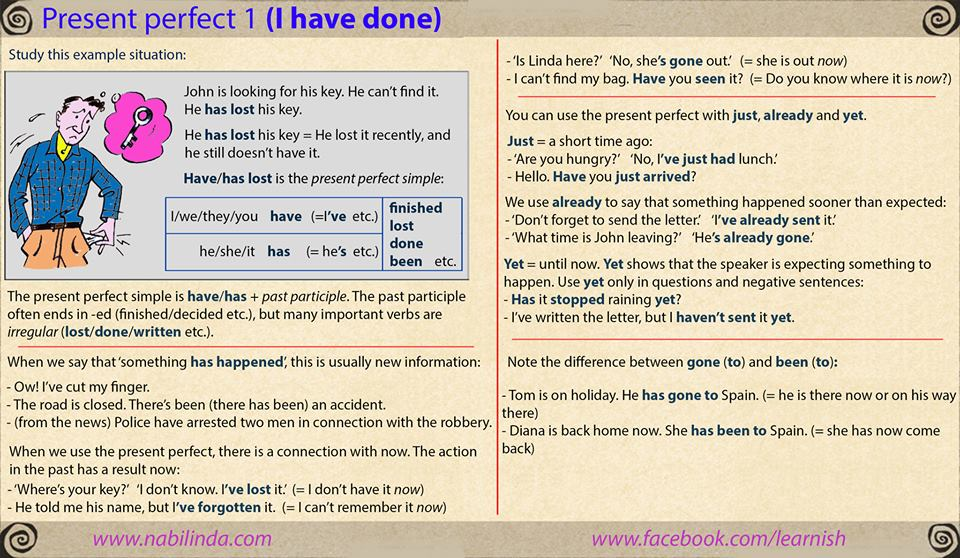 Present Perfect Simple, Continuous and Past Simple | My