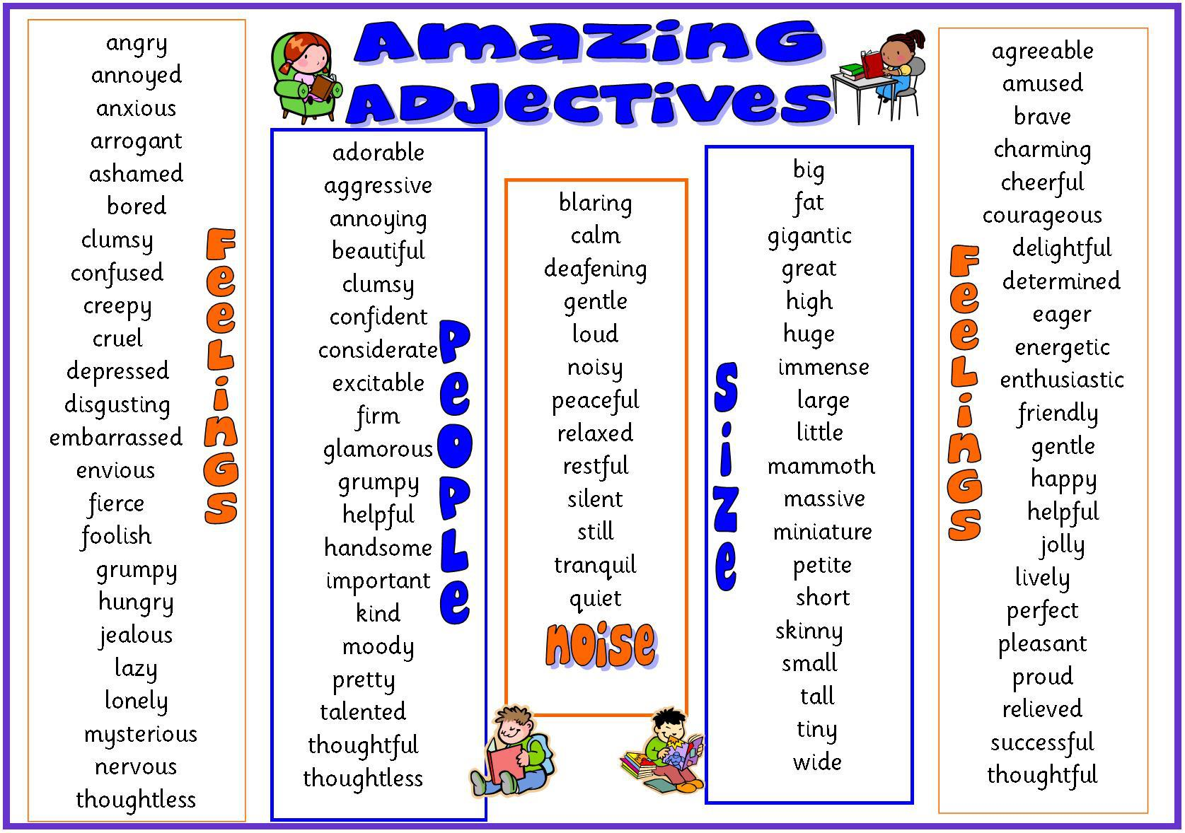 Worksheet Complete List Of Adjectives list of adjectives what is an adjective