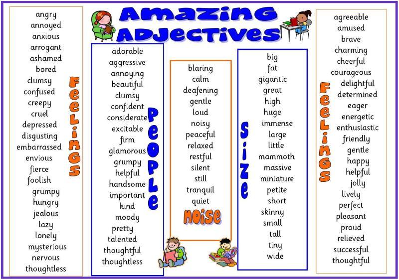 examples of descriptive words to describe a person
