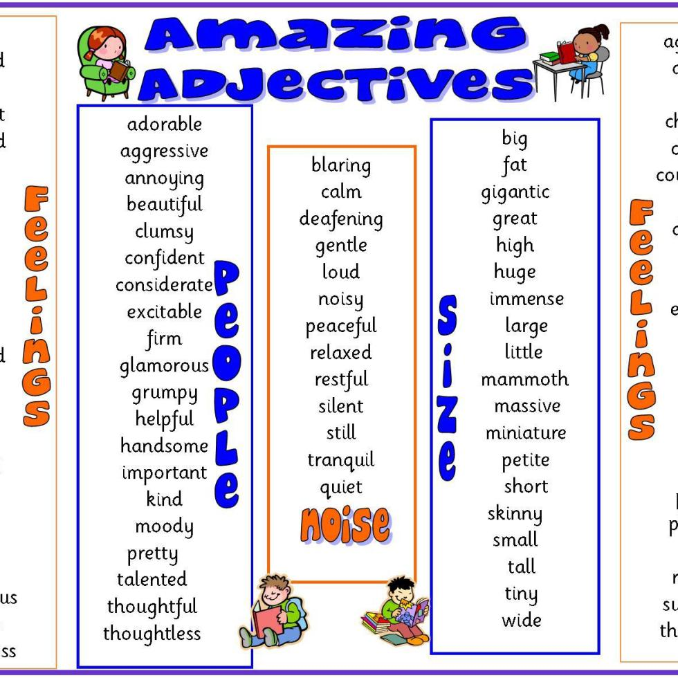 list of adjectives - 960×675
