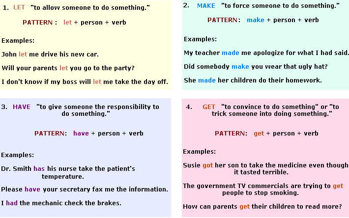 causative verbs let make have get