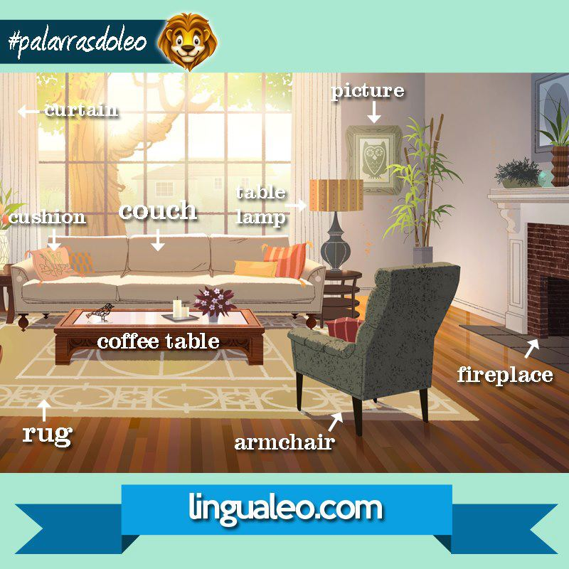 House and furniture my english blog for Living room vocabulary