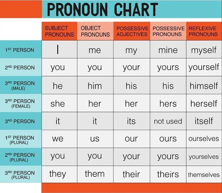 Possessive Pronouns (examples, explanations, solutions, videos)