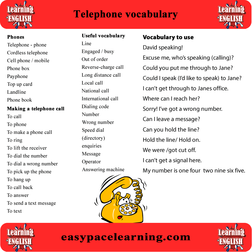 telephone essay in english